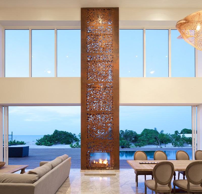13 examples of how to incorporate a double-sided fireplace into your home
