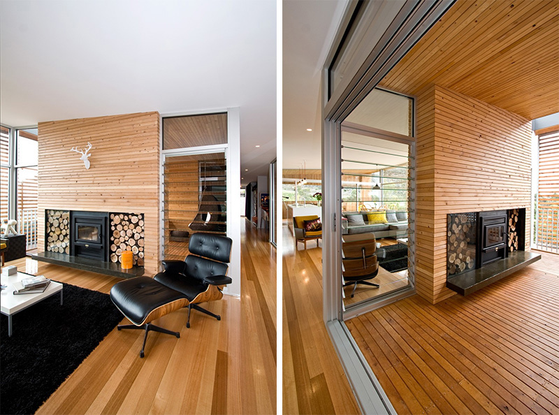 13 examples of how to include a double-sided fireplace into your ...