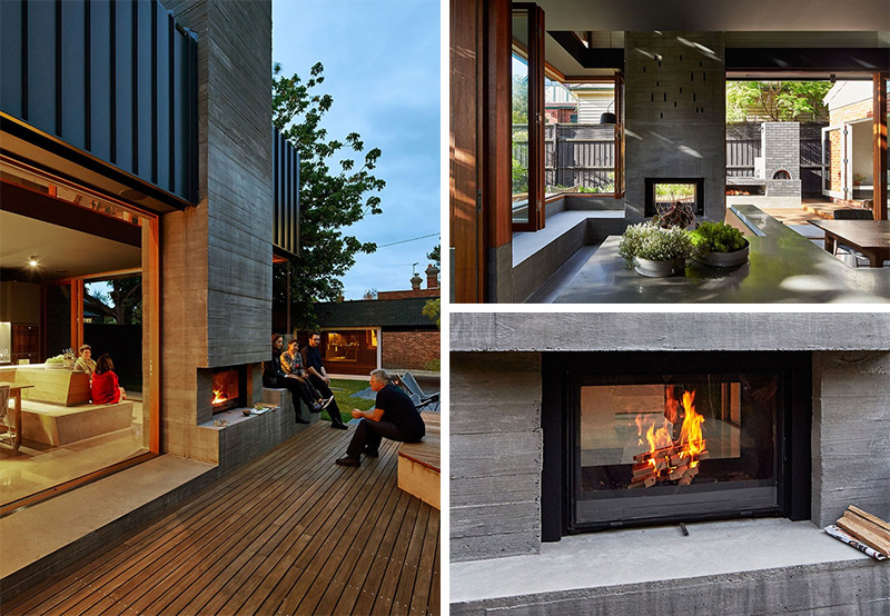 13 examples of how to include a double sided fireplace