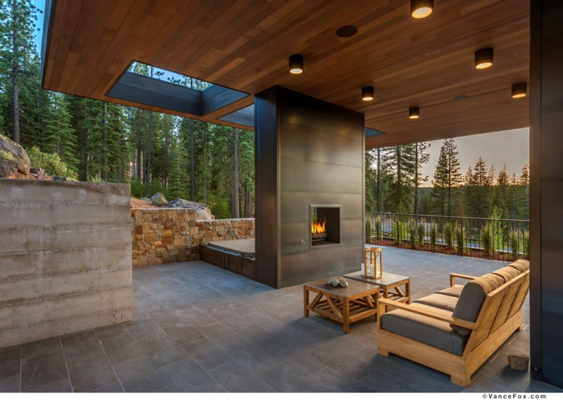 13 Examples Of How To Include A Double Sided Fireplace Into Your Home Contemporist