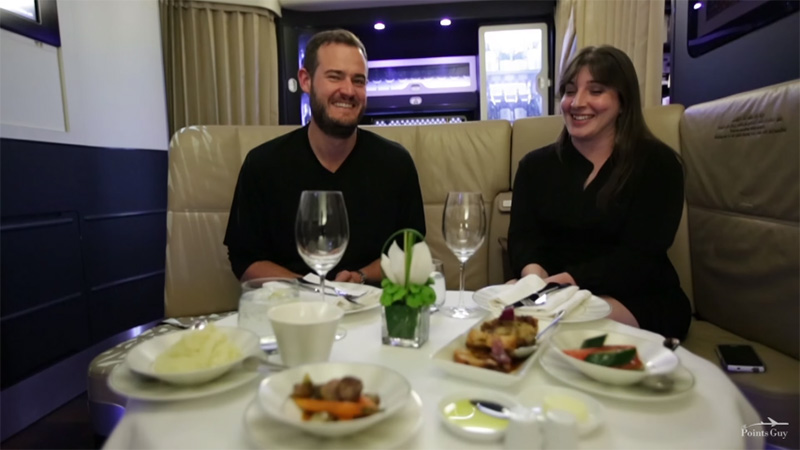 Ever wondered what $32,000 gets you on a flight from NYC to Abu Dhabi