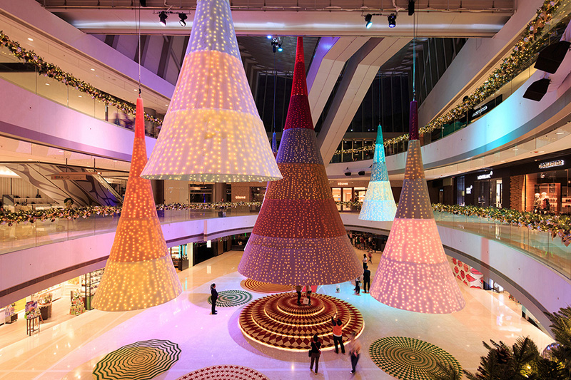Glowing Trees Installation by spacial practice