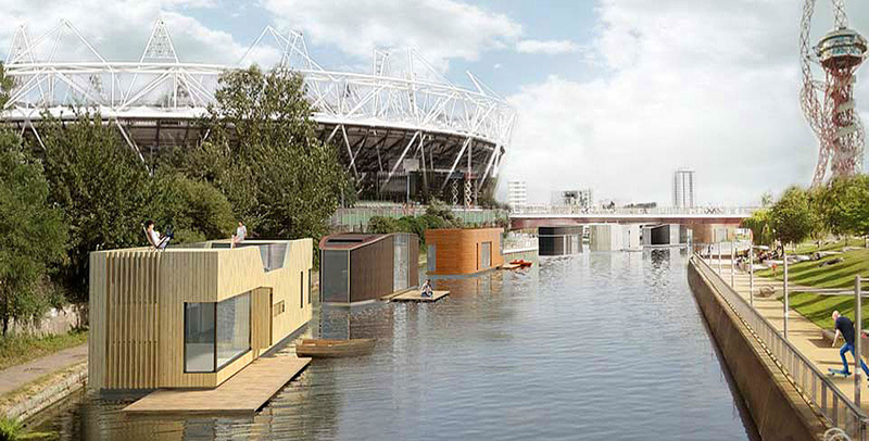 Why are people living on the water in London?