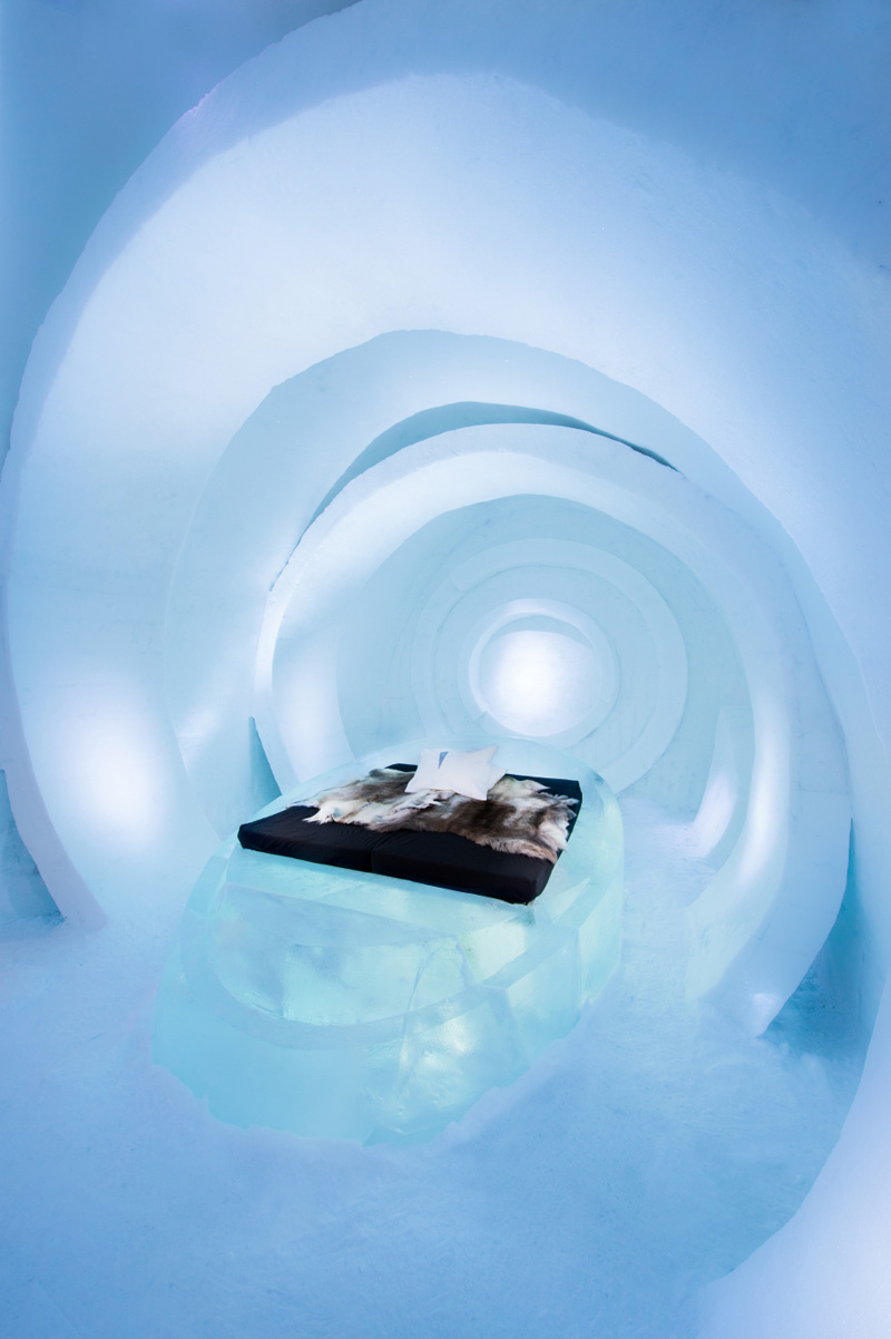 Inside the ICEHOTEL in Jukkasjärvi, Sweden