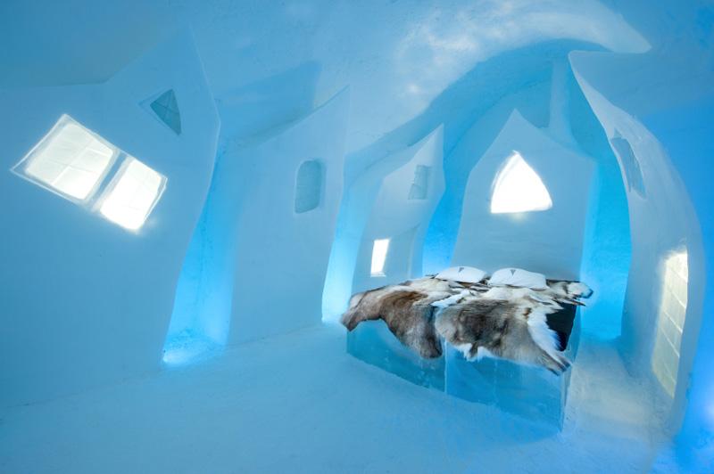 Inside the ICEHOTEL in Jukkasjärvi, Sweden