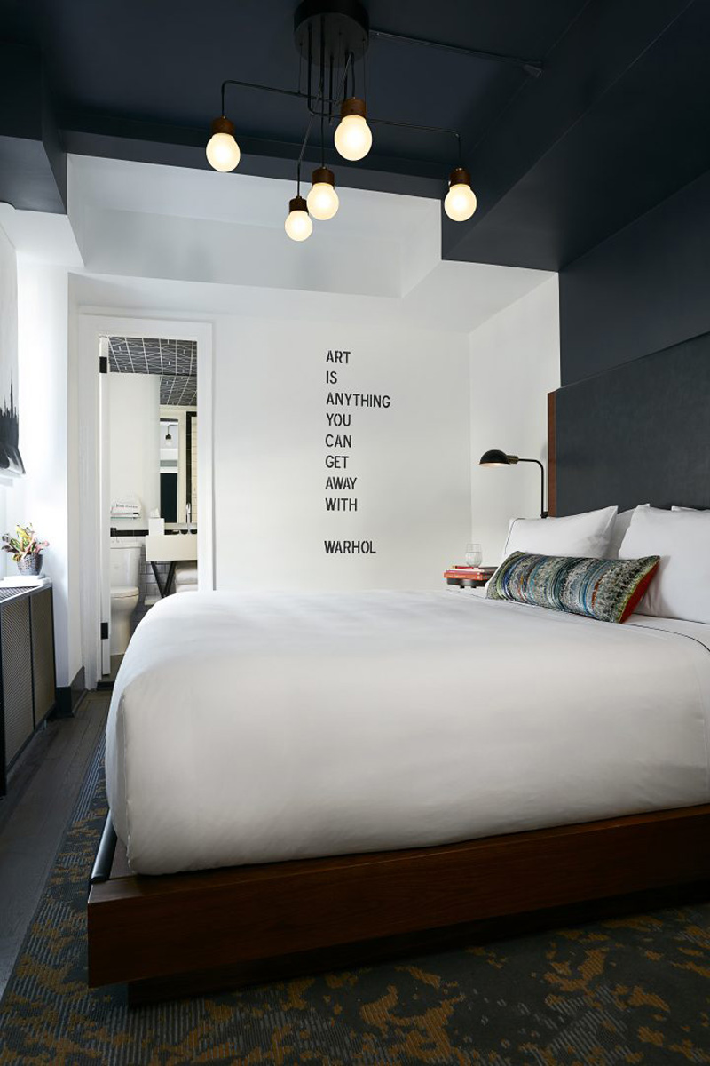 to break up the blank canvas of white walls they visually extended