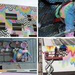 Technicolor Drip is a public art installation on a building in Culver City, California