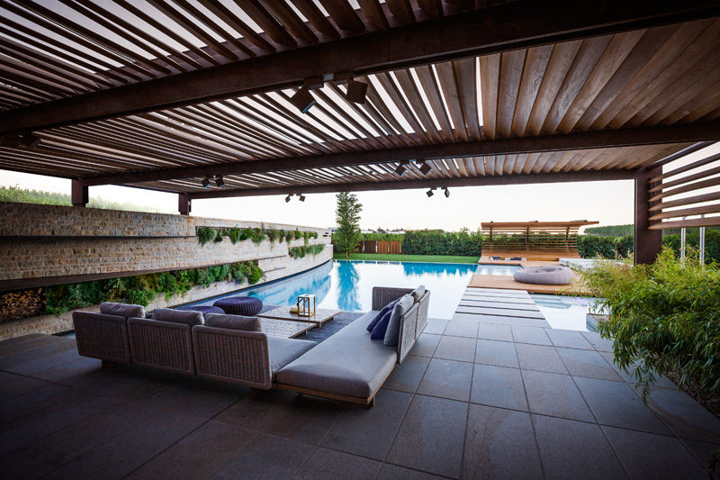 This Poolside Sunken Seating Area Was Designed For An