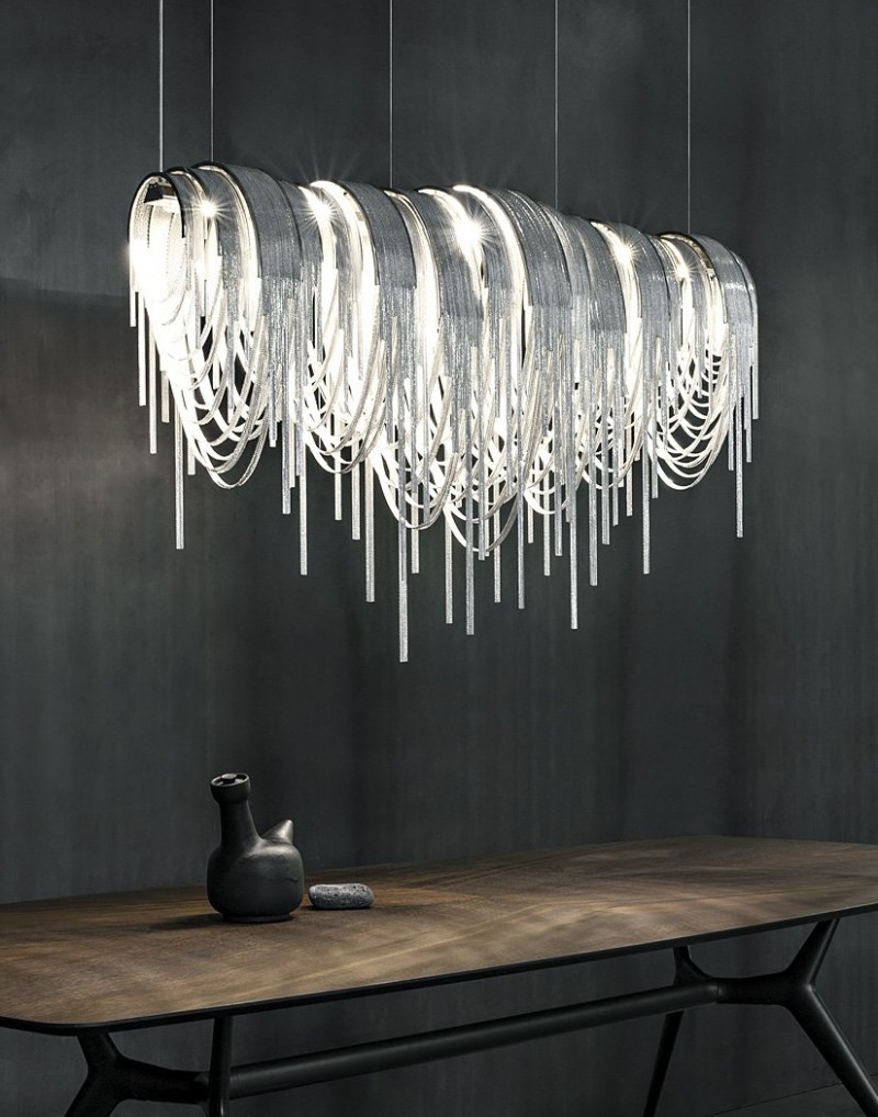 11 contemporary chandeliers that make a statement. Black Bedroom Furniture Sets. Home Design Ideas