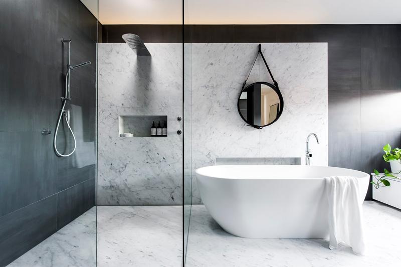 48 Photos Of An Understated Elegant Monochromatic Bathroom Unique Black Marble Bathroom Creative