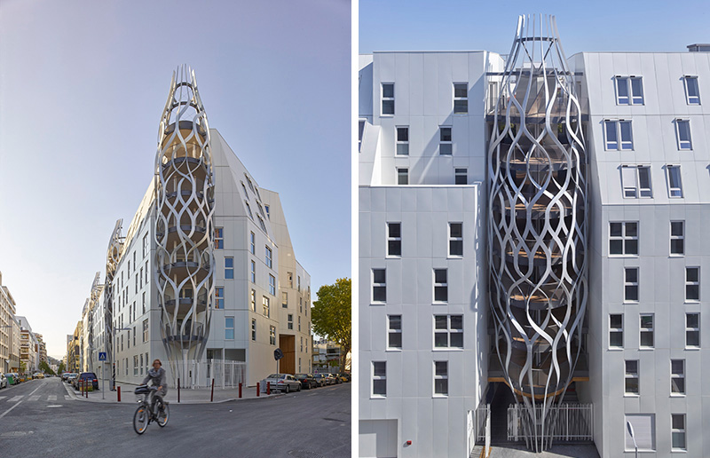 Sculptural Mesh Structures Give This Apartment Building Its Own