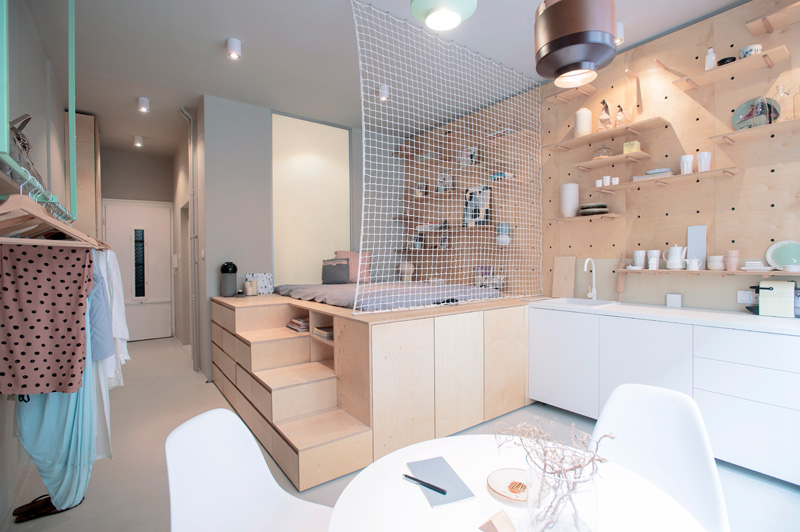 This small apartment was designed to be rented to travellers