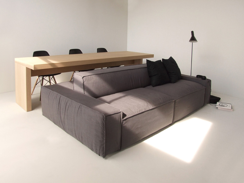 This Double Sided Sofa Is Designed For Living In Small