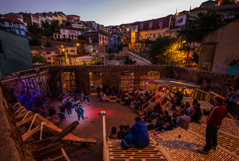 The Wave, a public performance space in Valparaiso, Chile