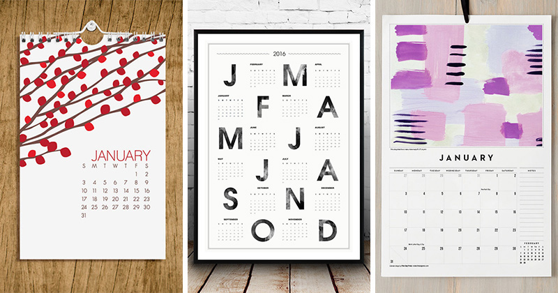9 Wall Calendars To Keep You Organized In 2016 (Plus They Can