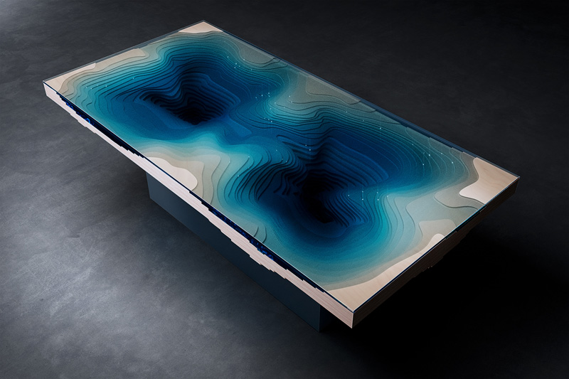 Abyss Dining Table, designed by Christopher Duffy for Duffy London