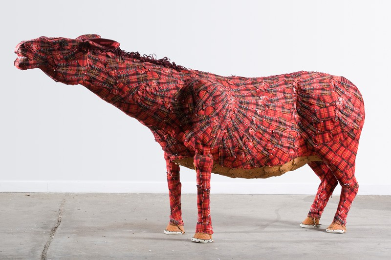 These farm animals have been made from unconventional materials