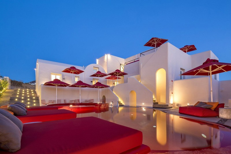 Take a look at The Art Hotel on the Greek island of Santorini