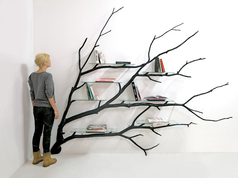Bilbao Tree Shelf by Sebastian Errazuriz