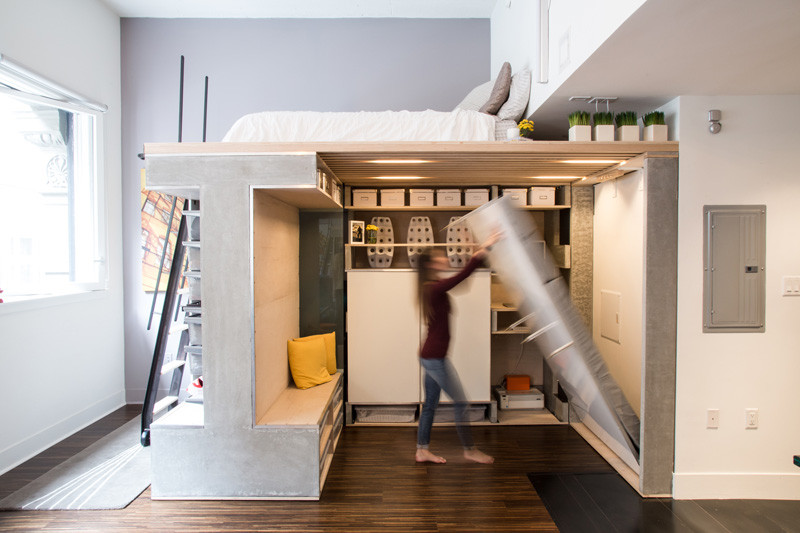 A E Saving Loft Was Designed For This Small Apartment In San Francisco