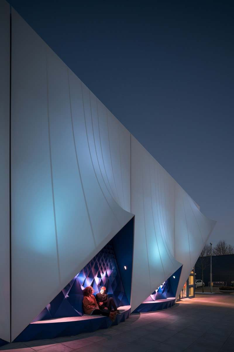 3D printed facade for EU building, designed by DUS Architects
