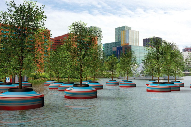 The city of Rotterdam will be getting a floating forest this Spring