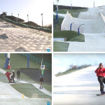 There's no snow on this synthetic ski slope in France