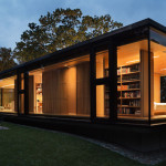 A Glass Enclosed Guest House In Upstate New York