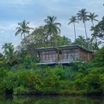 This resort is on an island in the middle of a Sri Lankan lake.
