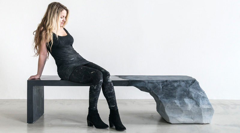 Fernando Mastrangelo designs a bench inspired by glaciers and natural earth formations
