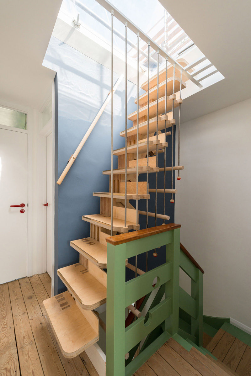 The stairs in this home were designed with over 100 interlocking parts