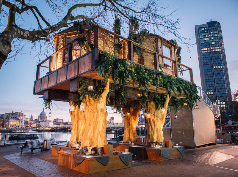 An African-Inspired Treehouse Has Sprouted Up In London