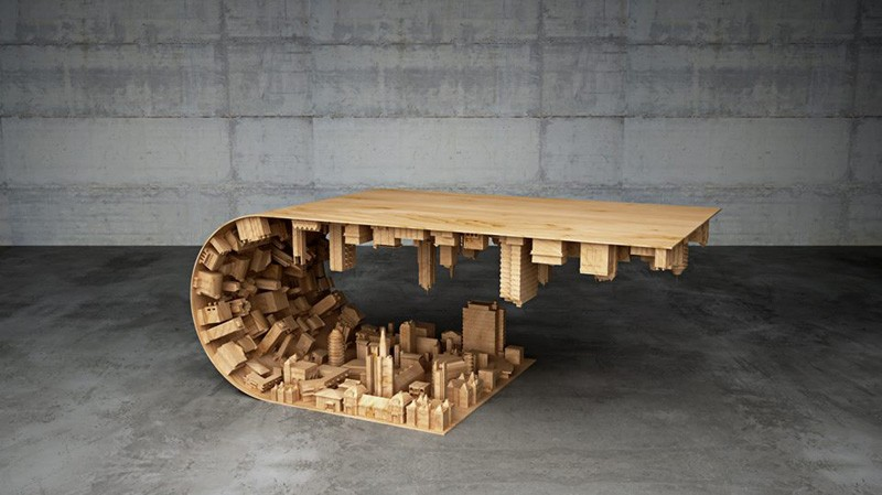 Wave City Coffee Table by Mousarris