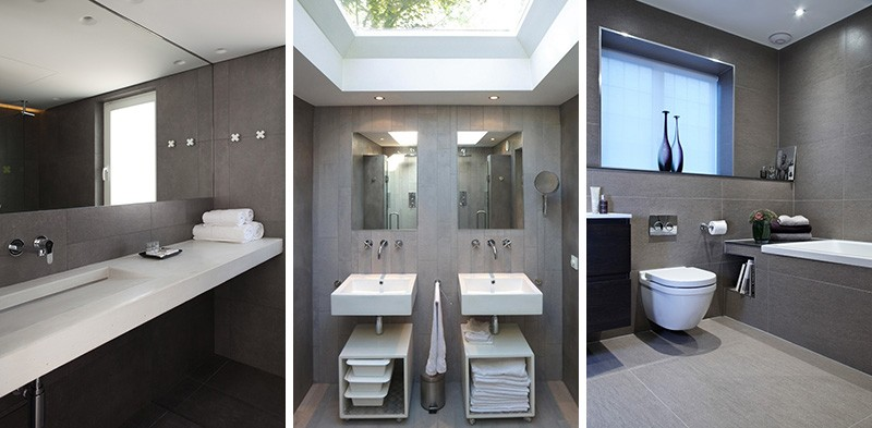 10 Inspirational Photos For Lovers Of Grey U0026 White Bathrooms