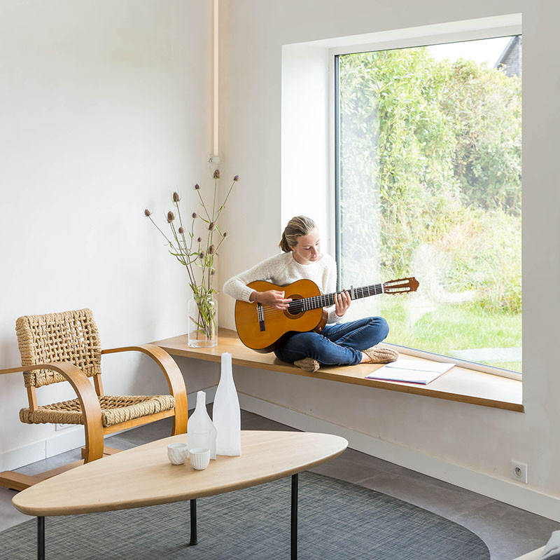 Design Detail - The addition of a single piece of wood creates a cozy window seat