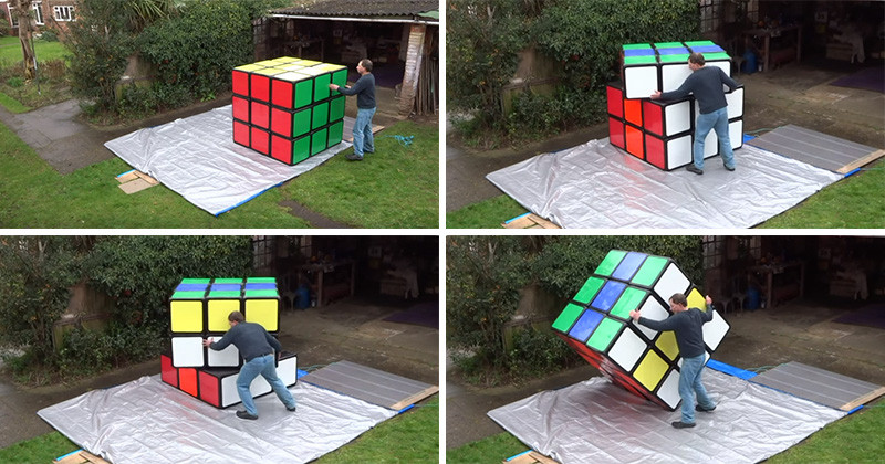 Is this the world's largest Rubik's Cube?