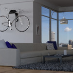 This sculptural bike wall mount is designed to display your ride like a work of art