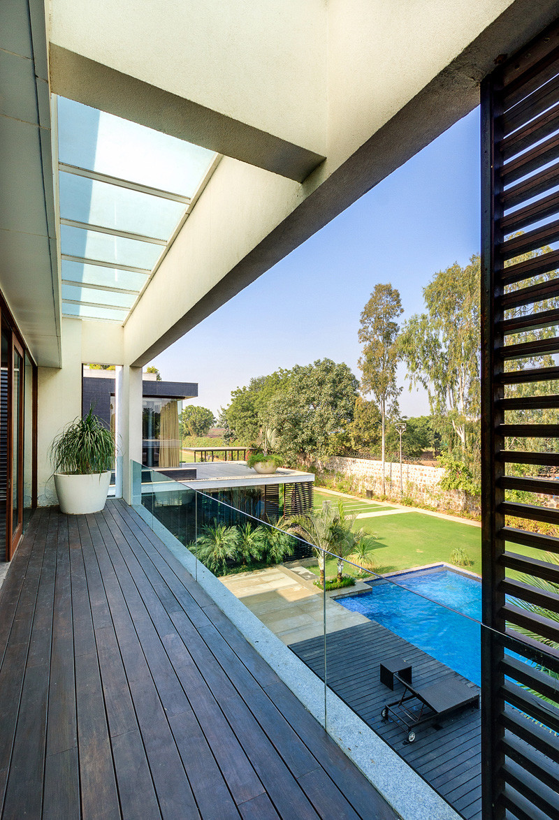 The Bridge House, located in New Delhi India, and designed by DADA & Partners.