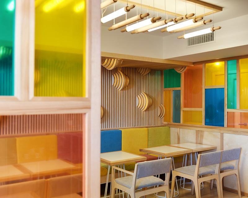 COFFEE &, a small cafe-bakery in Kiev, Ukraine, designed by YUDIN Design