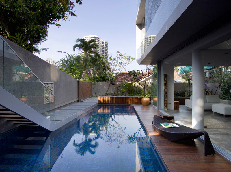 The OOI House, located in Singapore, and designed by Czarl Architects and Mink Architects.