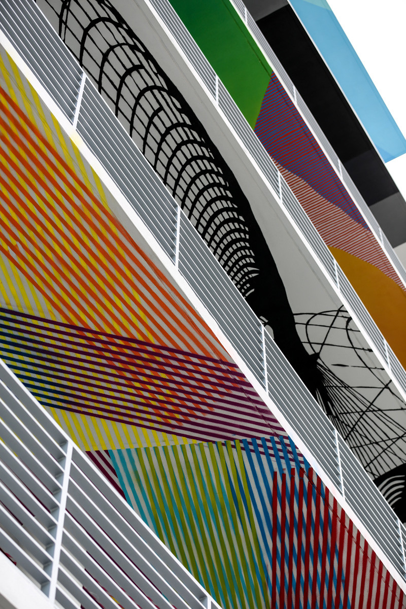 This building in Miami has colourful artwork for everyone to enjoy