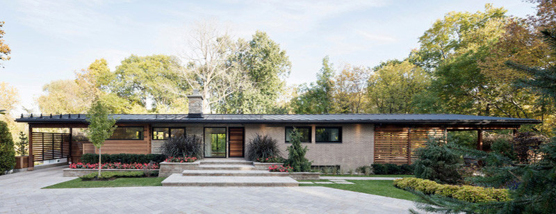 A 1960s House Is Given Contemporary