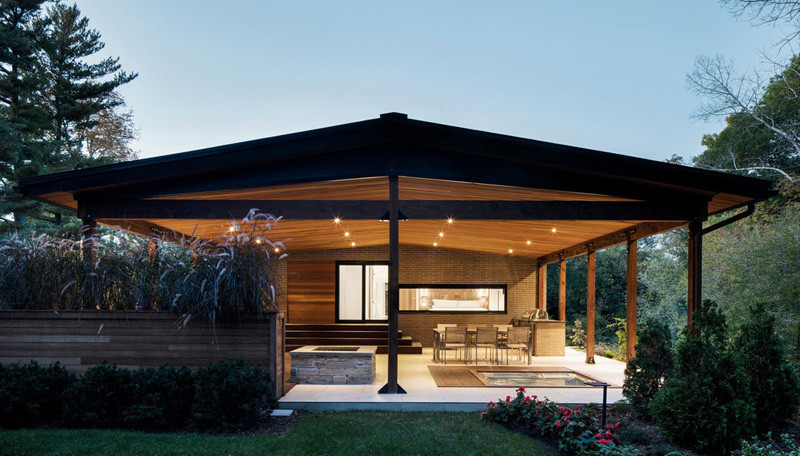The Du Tour Residence in Laval, Canada, designed by Architecture Open Form and interior design firm FX Studio par Clairoux