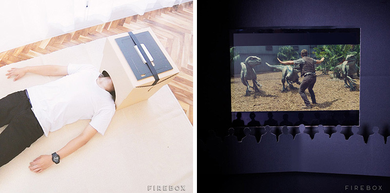 Cardboard Home Cinema by Lucy Alter Design