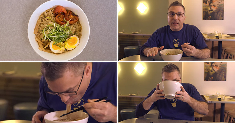 Learn how to eat Ramen the right way with this quick video