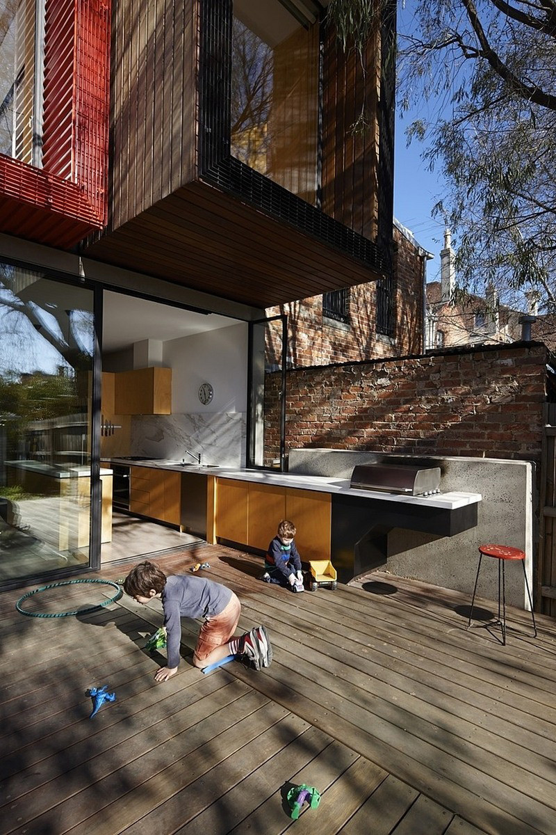 Design Detail - The Kitchen In This Home Flows From The Inside To The Outside