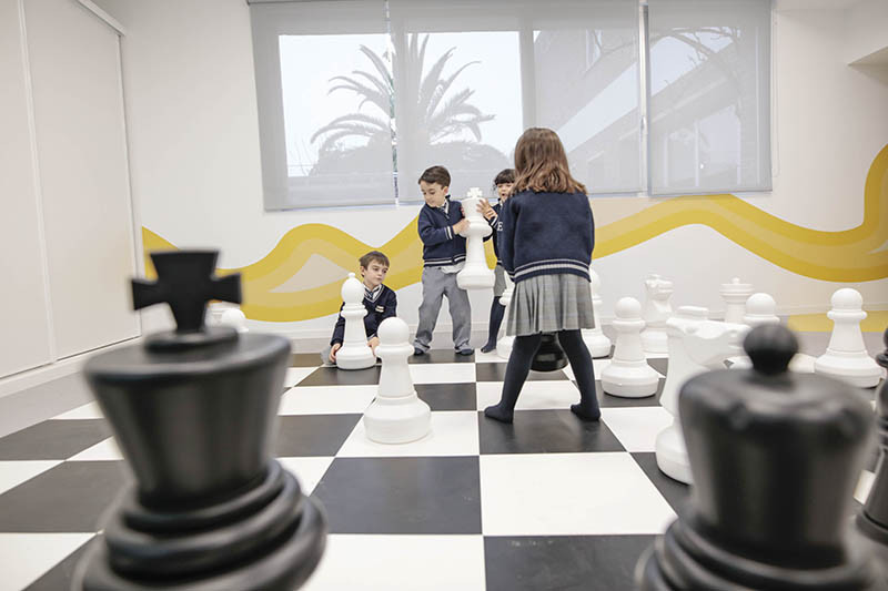This Spanish kindergarten is filled with mountains, caves and chess