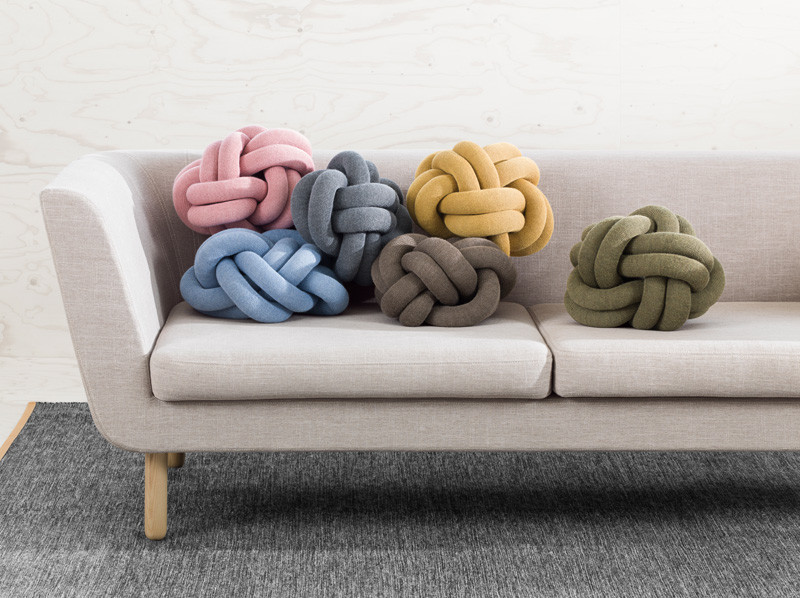 These Knot Cushions Are Not Your Normal Cushions // The Knot Cushions, designed by Ragnheiður Ösp Sigurðardóttir, and manufactured by Design House Stockholm