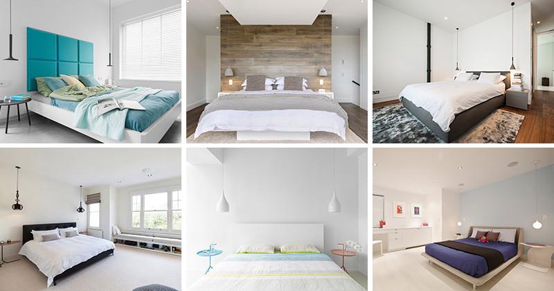 21 Examples Of Bedrooms With Bedside Pendant Lights | CONTEMPORIST