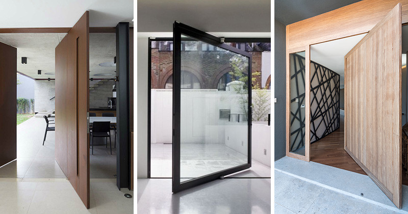 Perfect 10 Examples Of Homes With Large Pivoting Doors